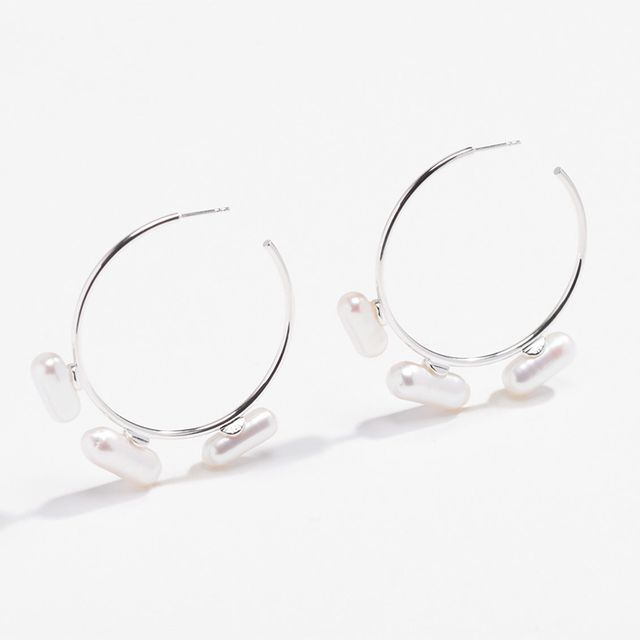 Lucy Folk Pill Popper Hoop Earrings