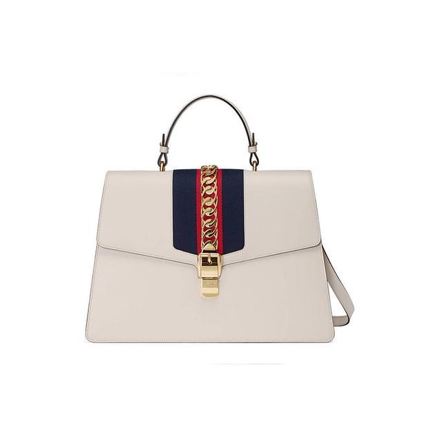 Sylvie leather maxi top handle bag