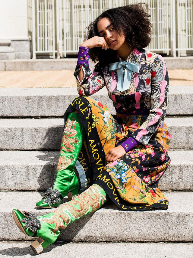 We're just going to get to the point here: If you truly want to be a Gucci girl, you have to give it your all. Find three bold hues you want to focus on, andexpand your outfit from...