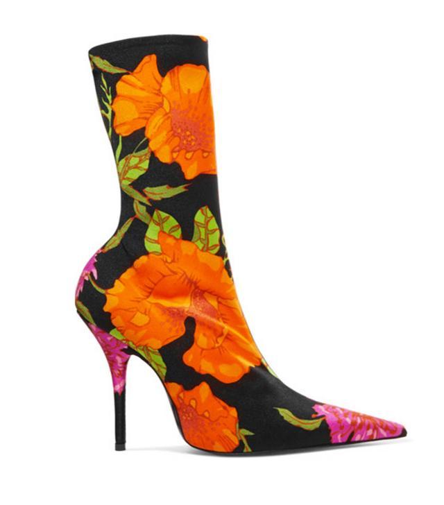 Balenciaga floral ankle boots