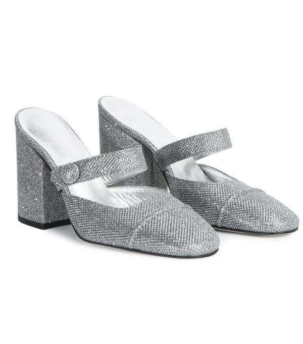Alexa Chung fashion brand: Silver mules