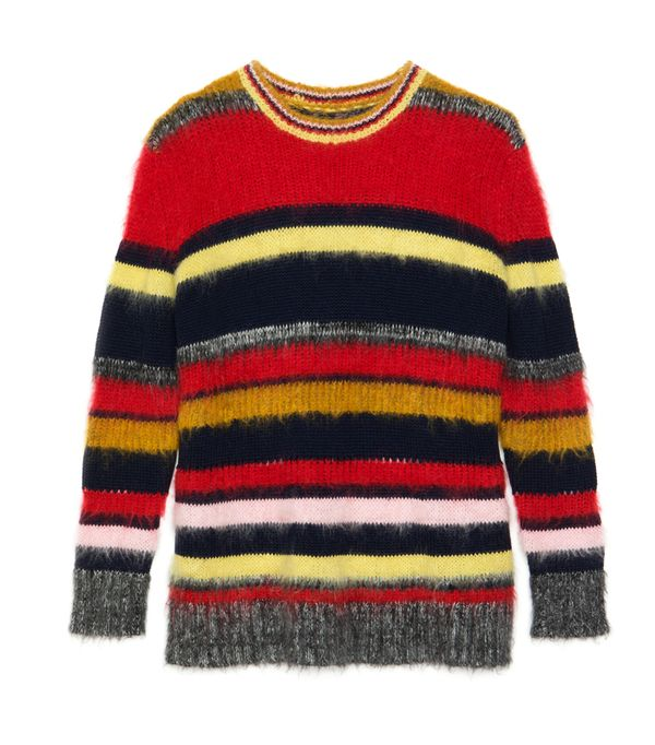 Alexa Chung fashion brand: striped mohair jumper