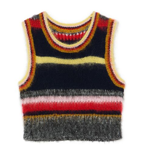 Stripey Mohair Top