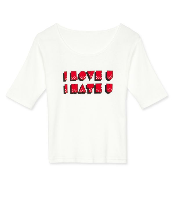 Alexa Chung fashion brand: I love you, I hate you T-Shirt