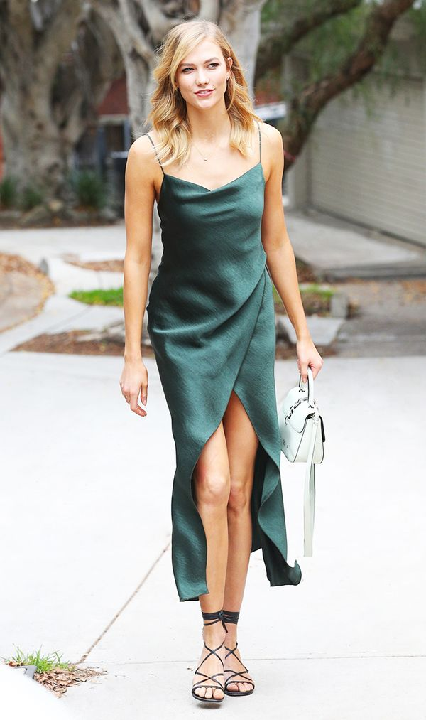 Karlie Kloss in Camilla and Marc Slip Dress