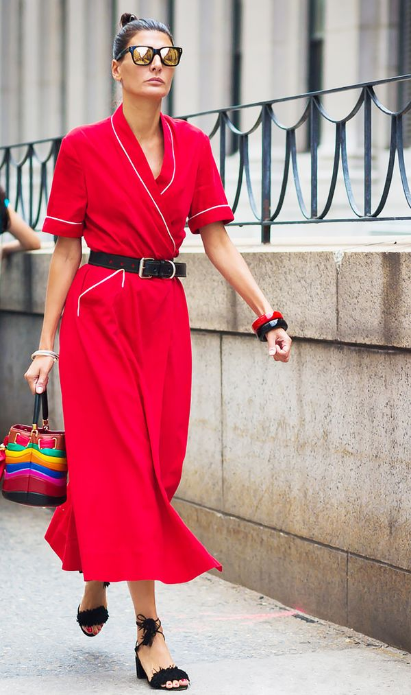 Giovanna Battaglia Englebert in Red Dress