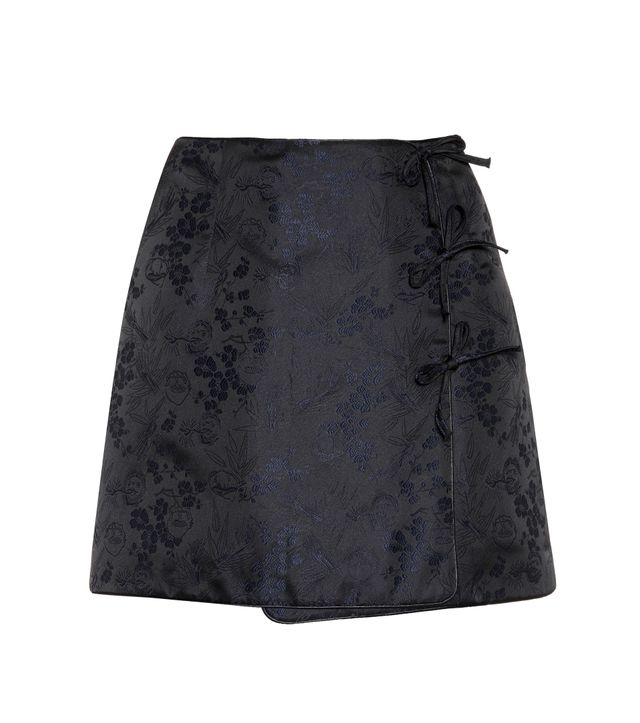 Alexa Chung Mini Bow Jacquard Mini Skirt