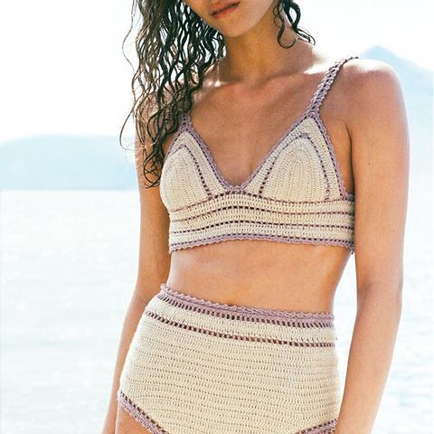 Sana High Waisted Crochet Bikini Bottom