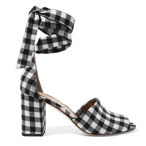 Olde Gingham Canvas Sandals