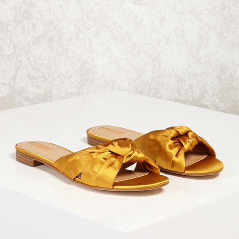 Knotted Satin Slides