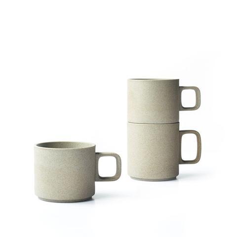 Unglazed Japanese Porcelain Mugs