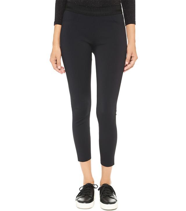 most flattering cropped black leggings