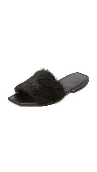 Faux Fur Slides