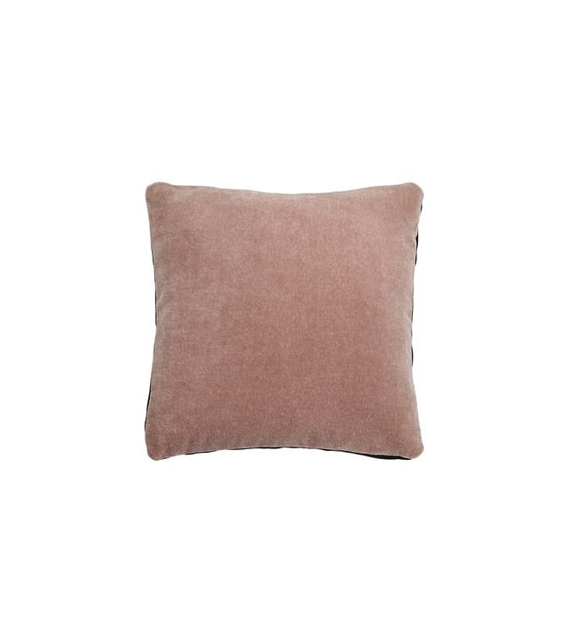 CB2 Mohair Pink Pillow