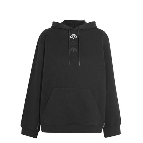 Logo Appliquéd Embroidered Cotton-Jersey Hooded Top