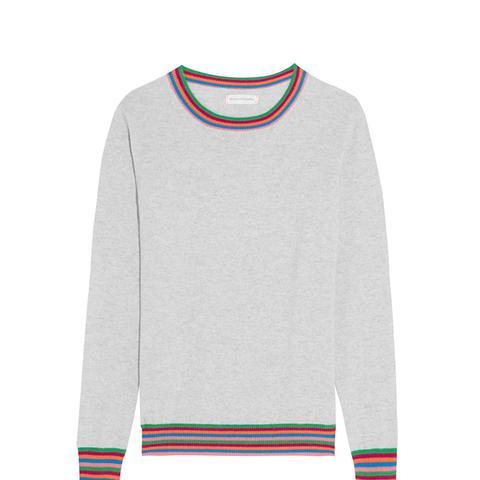 Stripe Cuff Cashmere Sweater
