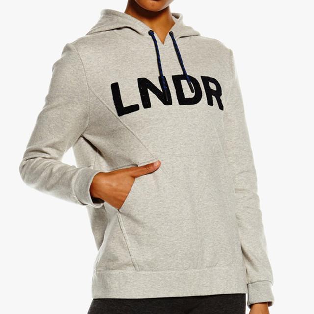 LNDR College Hoodie in Grey Marl