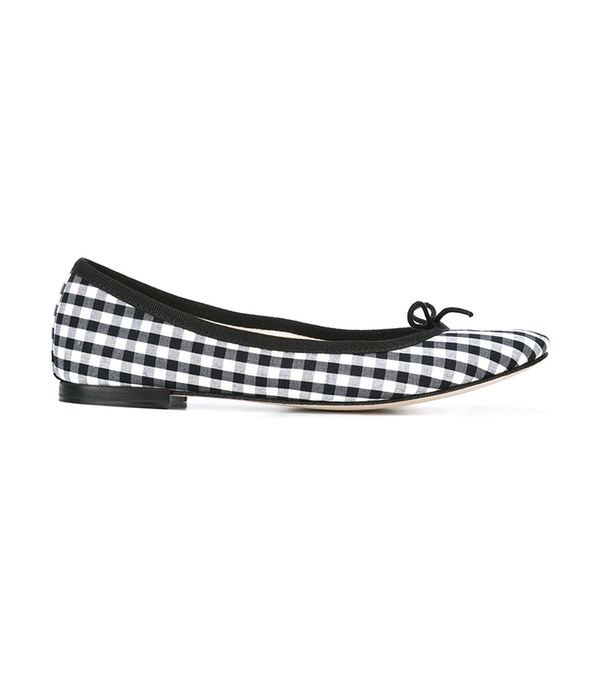 repetto gingham ballet flats