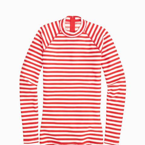Long-Sleeve Rash Guard in Classic Stripe