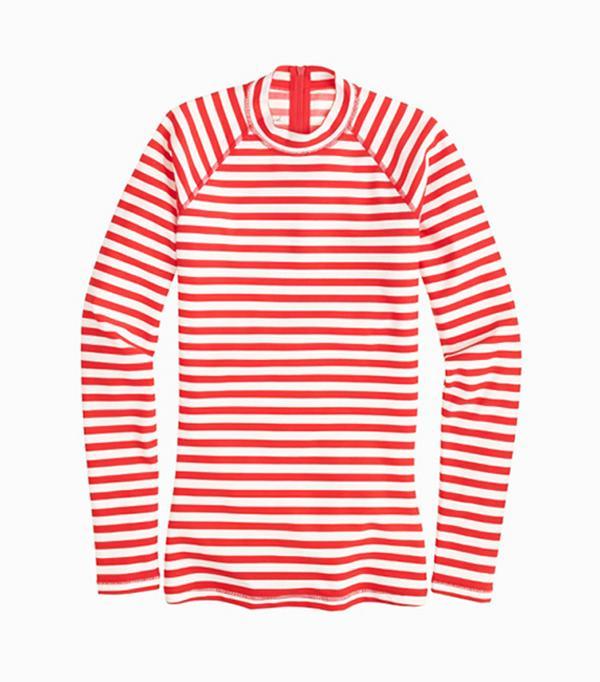 Best rashguard swimsuits: J Crew stripe