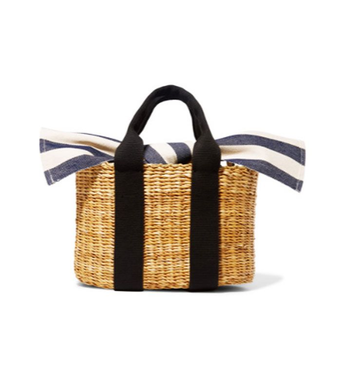 Best wedding guest accessories: Cabana Mini Straw And Striped Cotton-canvas Tote