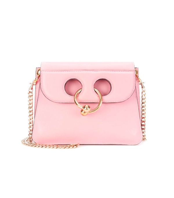 Best wedding guest accessories: Pink J.W. Anderson bag