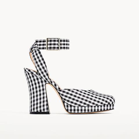Gingham Platform Shoes