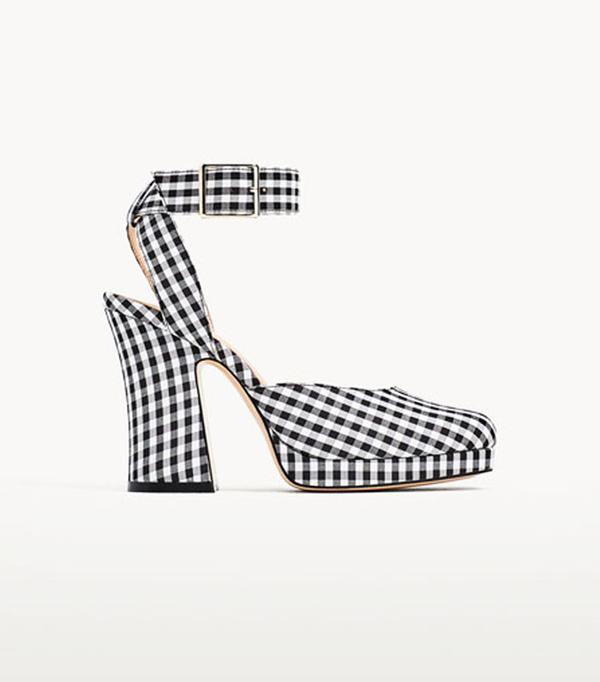 Best wedding guest accessories:  Zara gingham platforms