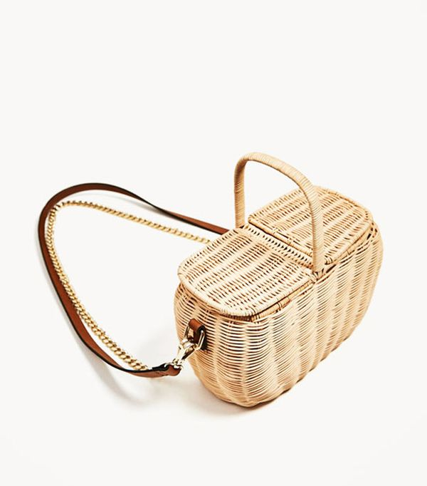 Best wedding guest accessories: Zara Picnic Basket Bag