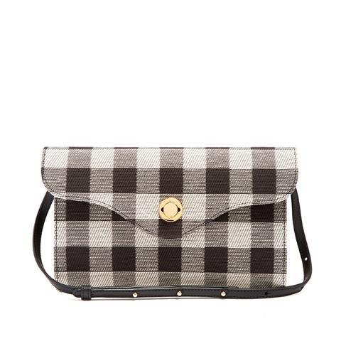 Mini Baguette Gingham Shoulder Bag