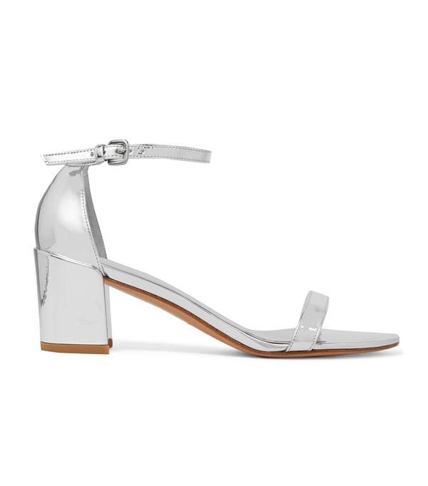 Best wedding guest accessories: Metallic Leather Sandals