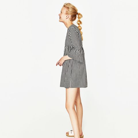 Checked Jumpsuit Dress