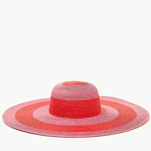 Large Striped Floppy Hat