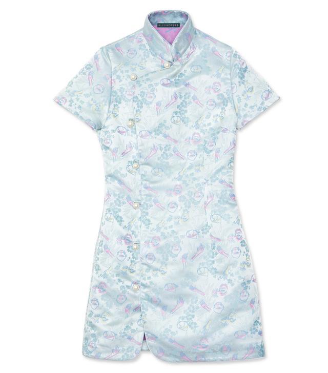 Alexa Chung Mandarin Collar Dress