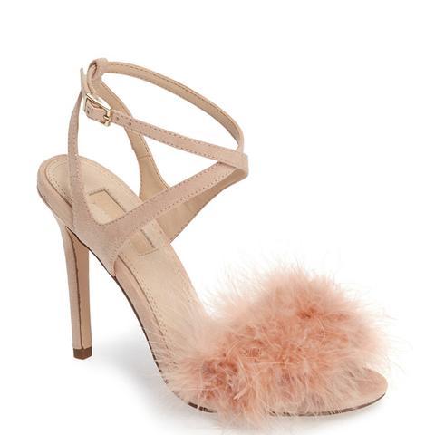 Reine Feathered Sandal