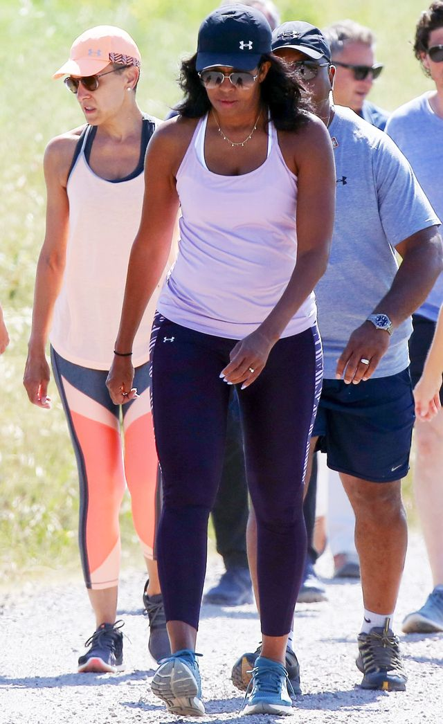Michelle Obama Italy Vacation leggings outfit