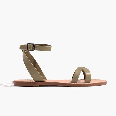 The Boardwalk Ankle-Wrap Sandal in Expat Olive