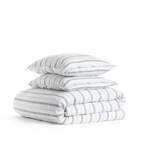 Linen Stripe Duvet Cover Set