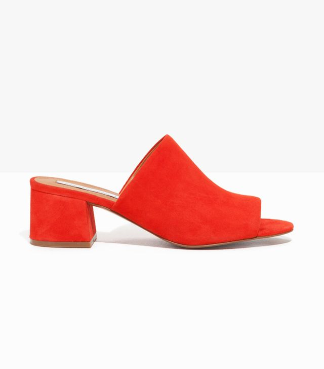 & Other Stories Suede Sandalette Mule