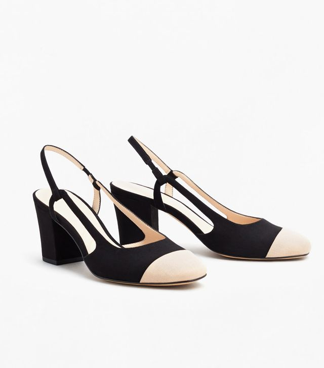 Mango Slingback Two-Coloured Shoes