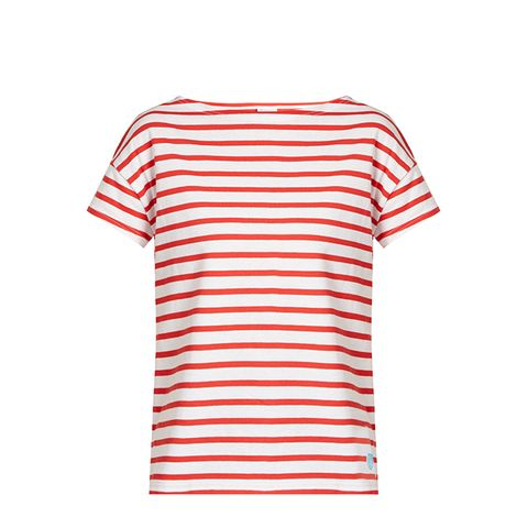 Breton-Striped Cotton T-Shirt