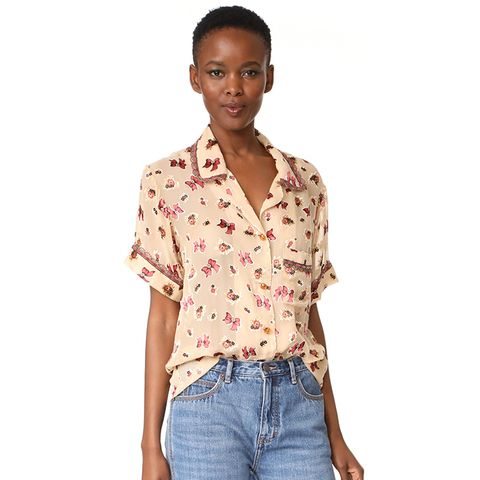 Bouquet & Bows Burnout Chiffon Shirt