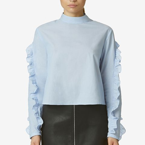 Ruffled-Sleeve Top