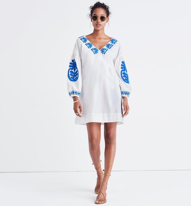 Madewell Embroidered Blanca Dress