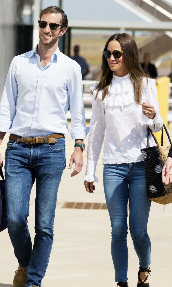 Pippa Middleton honeymoon airport outfit