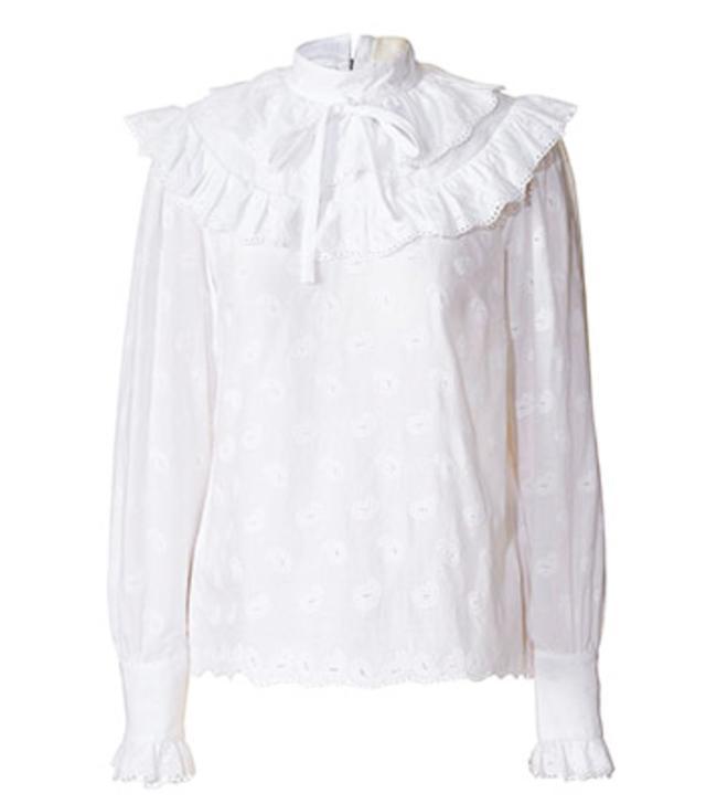 Orla Kiely Paisley Cotton Bell Blouse