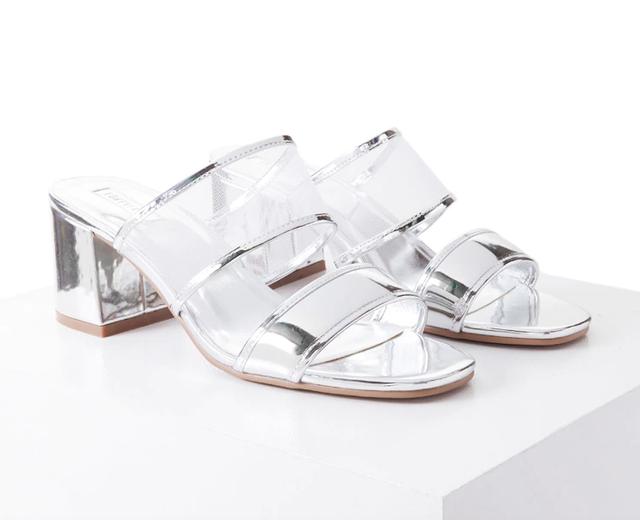 Forever 21 Metallic Mesh Sandals