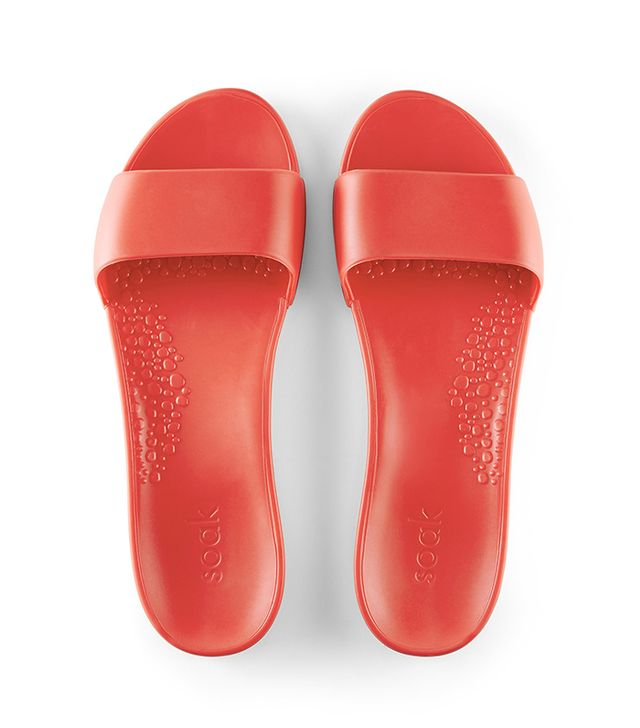 Soak Solid Color Slide Sandals in Baywatch