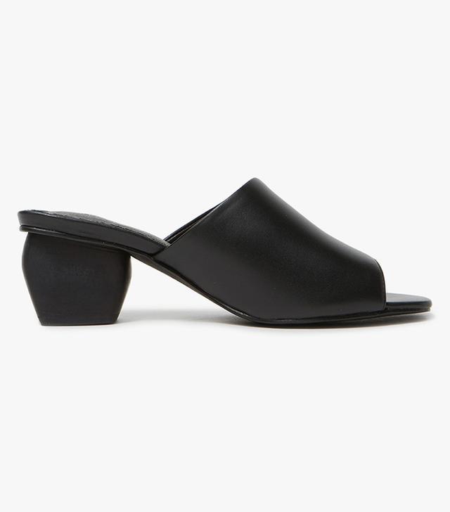 best black leather heeled sandals
