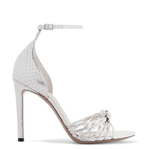 Parket Snake-Effect Mirrored-Leather Sandals